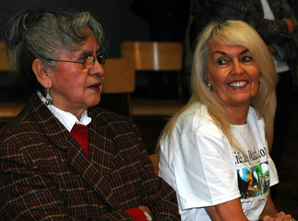 Dr Rose and Karen Bills, one of the HWF  CAM volunteers who brought this program to the schools.