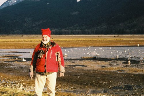 "The lovable Elf of the Chehalis Flats!   Photo taken by Karen during of exploration of ""where to set the Cameras""!"