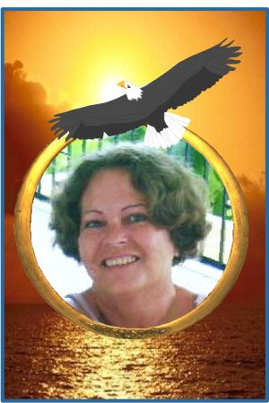 Weny and beloved eagle and sunrise